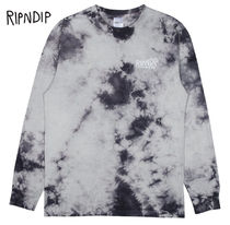 RIPNDIP Crew Neck Street Style Tie-dye Long Sleeves