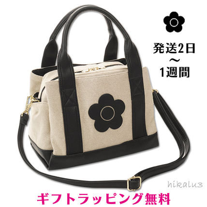 Flower Patterns Casual Style 2WAY Shoulder Bags