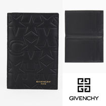 GIVENCHY Star Unisex Leather Folding Wallets