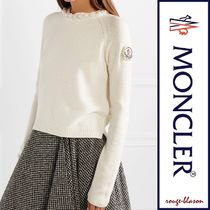 MONCLER Casual Style Cashmere Long Sleeves Plain Medium