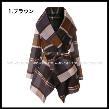 Chicwish More Coats Other Check Patterns Wool Medium Coats 2
