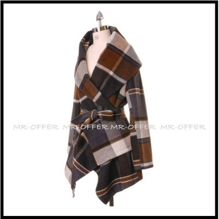 Chicwish More Coats Other Check Patterns Wool Medium Coats 3