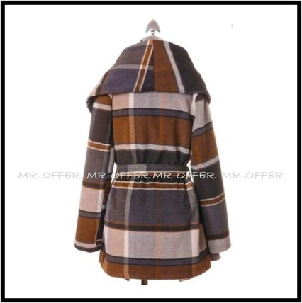 Chicwish More Coats Other Check Patterns Wool Medium Coats 4