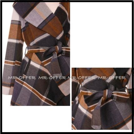 Chicwish More Coats Other Check Patterns Wool Medium Coats 5