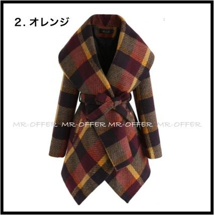Chicwish More Coats Other Check Patterns Wool Medium Coats 6
