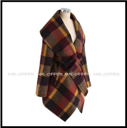 Chicwish More Coats Other Check Patterns Wool Medium Coats 7