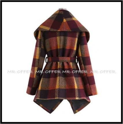 Chicwish More Coats Other Check Patterns Wool Medium Coats 8