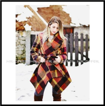 Chicwish More Coats Other Check Patterns Wool Medium Coats 9