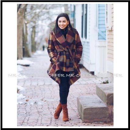 Chicwish More Coats Other Check Patterns Wool Medium Coats 10