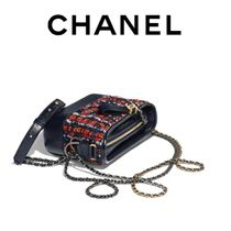 CHANEL Casual Style Blended Fabrics 3WAY Leather Shoulder Bags
