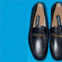 TOM FORD Loafers Chain Plain Leather Loafers & Slip-ons