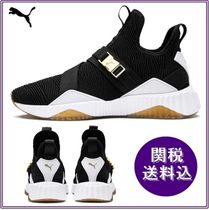 PUMA Rubber Sole Plain Low-Top Sneakers