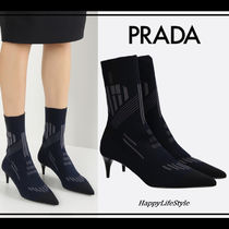 PRADA Casual Style Pin Heels Ankle & Booties Boots