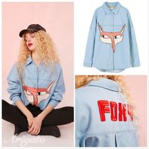 ELF SACK Casual Style Denim Street Style Long Sleeves