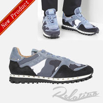 VALENTINO Camouflage Studded Street Style Sneakers