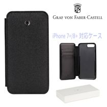 Graf-Von Faber Castell Unisex Street Style Plain Leather Smart Phone Cases