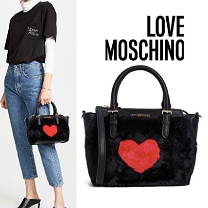 Love Moschino 2018-19AW Heart Unisex Faux Fur Street Style 2WAY Plain  Elegant Style by FairyCaprice - BUYMA 1624c4e1a0386