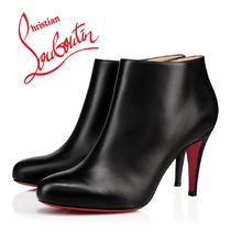 Christian Louboutin Plain Leather Pin Heels Office Style Ankle & Booties Boots