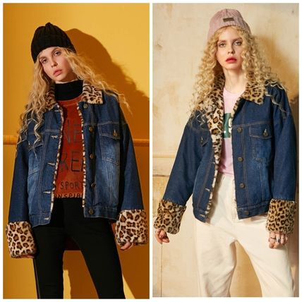Leopard Patterns Casual Style Street Style Jackets
