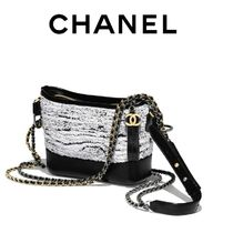 CHANEL Blended Fabrics Leather With Jewels Shoulder Bags