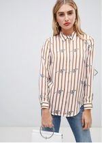 ASOS Stripes Casual Style Long Sleeves Other Animal Patterns
