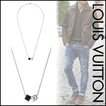 Louis Vuitton Blended Fabrics Street Style Plain Silver