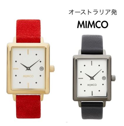 Leather Square Quartz Watches Analog Watches