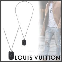 Louis Vuitton MONOGRAM Monogram Eclipse Plate Necklace