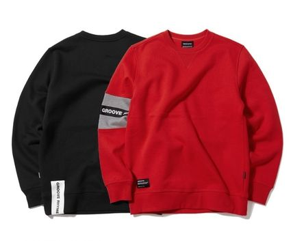 Street Style Long Sleeves Cotton Sweatshirts