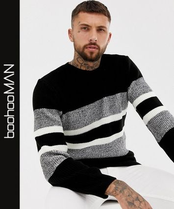 boohoo Knits & Sweaters Pullovers Long Sleeves Knits & Sweaters