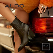 ALDO Cowboy Boots Casual Style Plain Leather Oversized