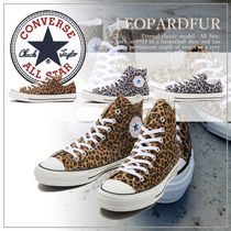 CONVERSE ALL STAR Leopard Patterns Casual Style Unisex Low-Top Sneakers