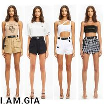 I.AM.GIA Short Tartan Casual Style Street Style Plain Shorts