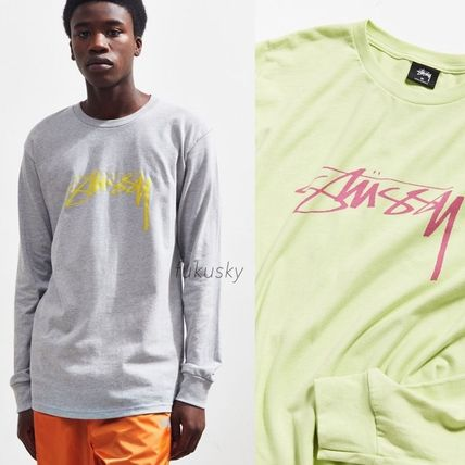 STUSSY More T-Shirts Crew Neck Street Style Long Sleeves Long Sleeve T-shirt
