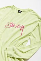 STUSSY More T-Shirts Crew Neck Street Style Long Sleeves Long Sleeve T-shirt 5
