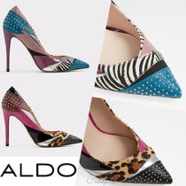 ALDO Leopard Patterns Blended Fabrics Studded