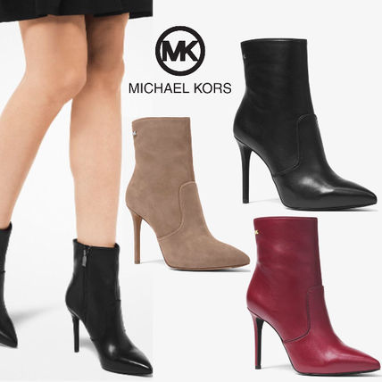 Michael Kors Ankle & Booties Rubber Sole Casual Style Plain Leather Ankle & Booties Boots