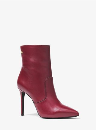 Michael Kors Ankle & Booties Rubber Sole Casual Style Plain Leather Ankle & Booties Boots 2