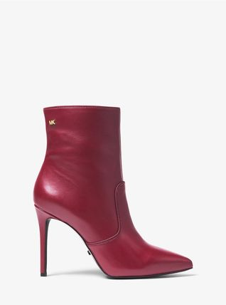 Michael Kors Ankle & Booties Rubber Sole Casual Style Plain Leather Ankle & Booties Boots 3