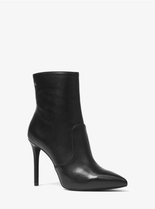 Michael Kors Ankle & Booties Rubber Sole Casual Style Plain Leather Ankle & Booties Boots 7