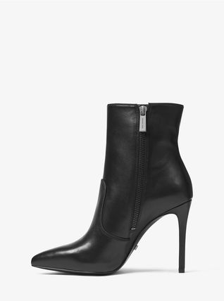 Michael Kors Ankle & Booties Rubber Sole Casual Style Plain Leather Ankle & Booties Boots 9