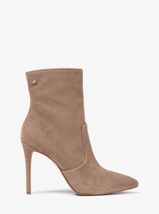 Michael Kors Ankle & Booties Rubber Sole Casual Style Plain Leather Ankle & Booties Boots 12