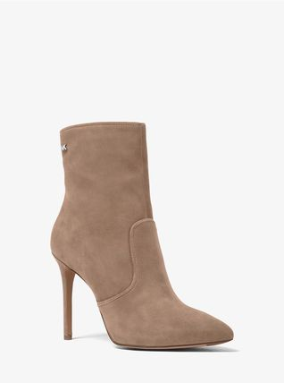 Michael Kors Ankle & Booties Rubber Sole Casual Style Plain Leather Ankle & Booties Boots 13