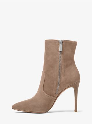 Michael Kors Ankle & Booties Rubber Sole Casual Style Plain Leather Ankle & Booties Boots 14