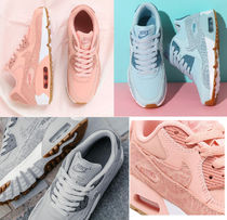 Nike AIR MAX 90 Blended Fabrics Petit Street Style Kids Girl Sneakers