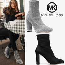 Michael Kors Round Toe Rubber Sole Casual Style Suede Plain