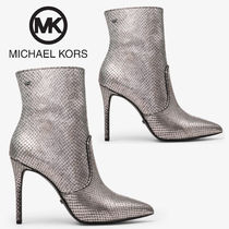 Michael Kors Rubber Sole Casual Style Leather Ankle & Booties Boots