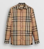 Burberry Tartan Long Sleeves Cotton Shirts