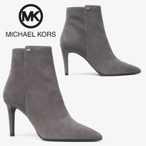 Michael Kors Rubber Sole Casual Style Suede Plain Ankle & Booties Boots