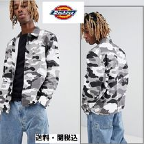 Dickies Camouflage Long Sleeves Cotton Shirts
